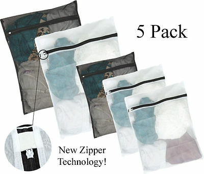 5 Pack Mesh Laundry Bags - Small Large Wash Bag for Bra Delicates Lingerie