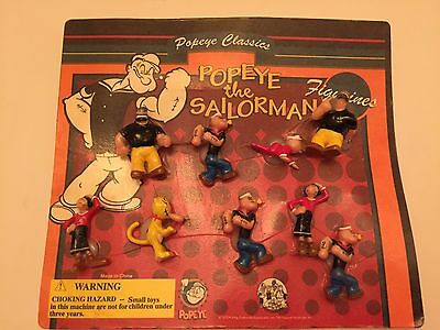 Popeye the Sailorman Figures 2004 Lot of 9