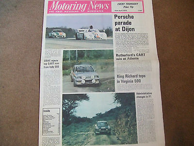 Motoring News 26 April 1979 Safari & Circuit of Ireland Rally Dijon 6 Hours
