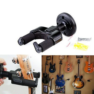 Universal Electric Acoustic Guitar Bass Wall Hanger Holder Stand Rack Hook Mount
