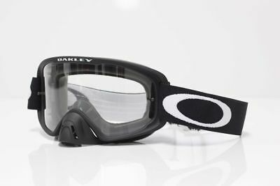 Oakley NEW 2016 O2 MX Matte Black Clear Lens MTB BMX Motocross Dirt Bike Goggles