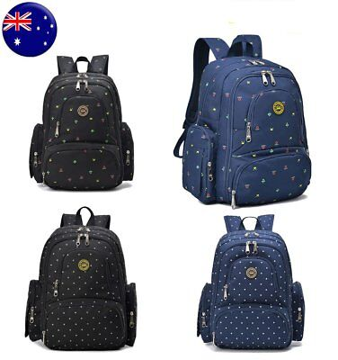 AU STOCK Mummy Nappy Backpack Mother Diaper Bags Newborn Baby Pad Changing Bag