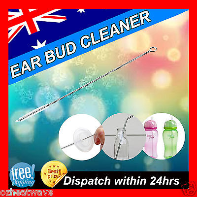 3,5,10pcs Stainless steel Nylon Hearing Aid Buds Cleaners cleaning Brush NEW