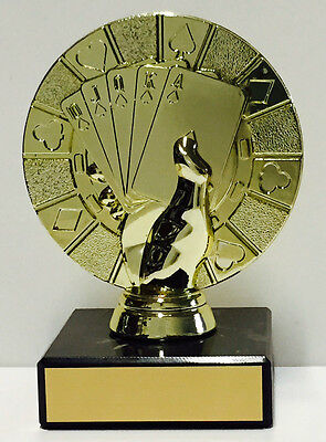 Cards Poker Hand Trophy Award 115mm FREE Engraving