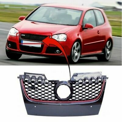 Vw Golf Mk5 2004-2008 Gti Front Bumper Grille Main With Red Moulding New
