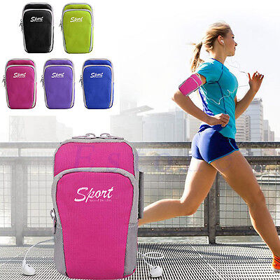 Outdoor Sports Arm Band Bag Case Running Pouch Jogging For iPhone 6 Plus Samsung