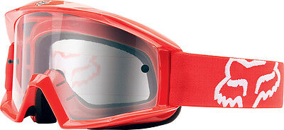 Fox Main Red Clear Lens Goggles Adult Dirtbike mx