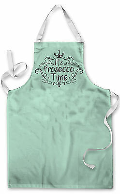 Mint Green It's Prosecco Time Design Apron Kitchen Bbq Cooking
