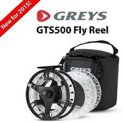 Greys GTS500 NEW 2015 CASSETTE FLY REEL & 3x LOADED LINES & SPARE SPOOL.