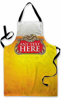Personalised Beer Label Lager Glass Design Apron Kitchen Bbq Cooking Painting