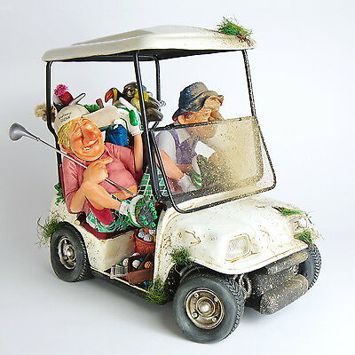 "GUILLERMO FORCHINO - Comic Art Skulptur ""GOLFCART"" numm. Edition FO85076 NEU !!"