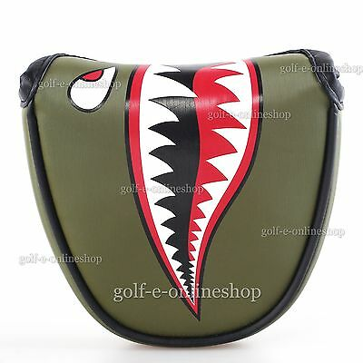 New Dark Green Crocodile Golf Putter Head cover for Mallet Cover Odyssey Adams