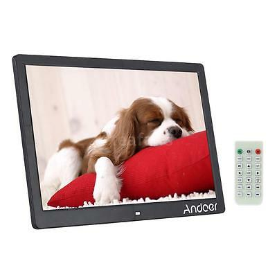 "15.6"" HD LED Digital Photo Frame Picture Alarm Clock Movie Player+Remote Control"