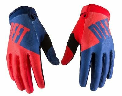 2016 Deft Family Gloves Eqvlnt Choice Blue/Red MX Motocross Off-Rd MTB DH