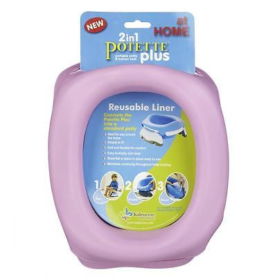 Potette Plus Travel Potty Reusable Liner - Easy to remove and clean PINK