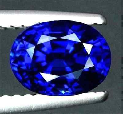 Unheated 6.04ct Rich Royal Blue Sapphire 10X12mm Oval Shape Top Quality AAAAGem