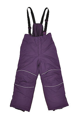 Girls Ski/Snow Suit Pants Purple Size 2-10 Water/Wind Proof Kids Children