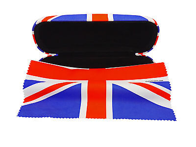 Unisex GoOpticians Union Jack Hard Glasses Case & Optional Microfibre Cloth