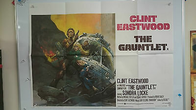 The Gauntlet Original Quad Movie Film Poster 1977 Clint Eastwood Large