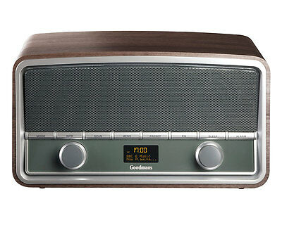 Goodmans 50s Heritage Style DAB+ Bluetooth Radio in Wood Finish
