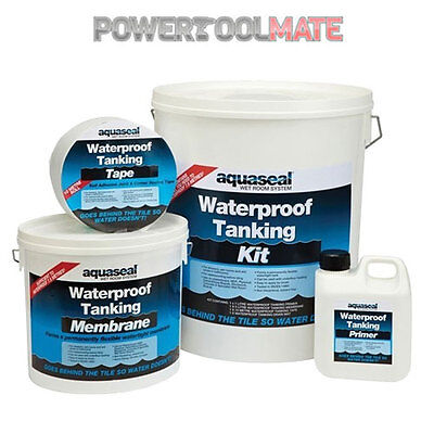 Everbuild Aquaseal Tanking Kit - Wet Room System - Waterproof Kit - Large 7.5m²