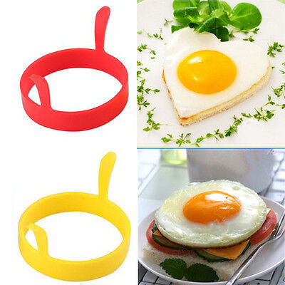 Creative Round Heart Kitchen Silicone Egg Frier Fried Oven Ring Mould