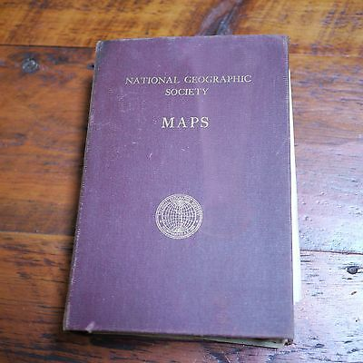 Lot of 31 Vintage 1940s-1950s National Geographic Society MAPS + CASE