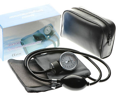 Aneroid Sphygmomanometer Adult Cotton Cuff Blood Pressure Monitor Stethoscope