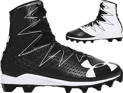 Under Armour  Mens UA Highlight RM Football Cleats Shoes 1269695-001 Black/White