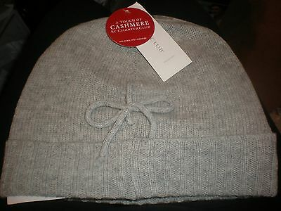 e0a1587d869 A Touch Of Cashmere By Charter Club Women s Heather Platinum Hat New