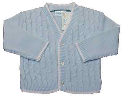 Cardigan baby boy cable knit BLUE