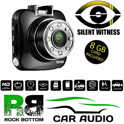 Silent Witness SW013  Car Taxi or Vans GPS HD 1080p DVR Dash Cam Camera 8GB SD