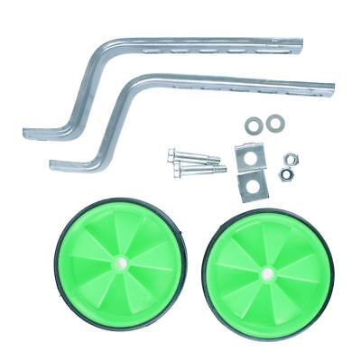 "Adjustable 12""-20"" Training Wheels Set with Fittings for Kids Bicycles Green"