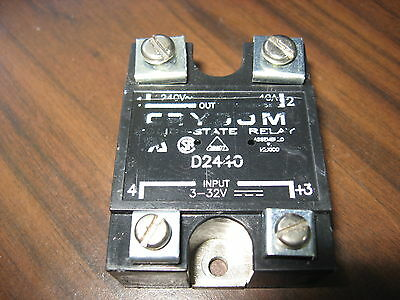 Crydom D2440 Solid State Relay / 40 Amp, 240 Volt