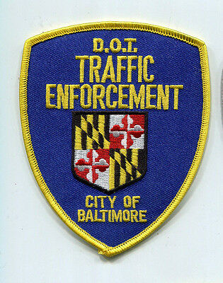 City of Baltimore Maryland Dept of Transportation O/S Traffic Enforcement Patch