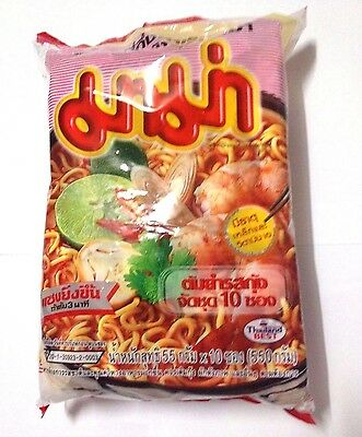 10x55g MAMA Tom Yum Kung Flavour Spicy Shrimp Quick Cooking Thai Instant Noodles