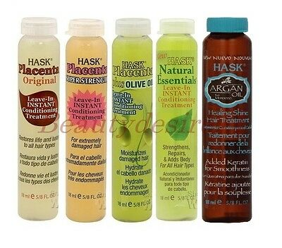Hask Placenta Leave-In Conditioning Hair Treatments 18 ml