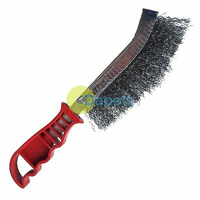 Metal Hand Wire Brush With Plastic Handle Heavy Duty Diy Tool Paint Rust Remover