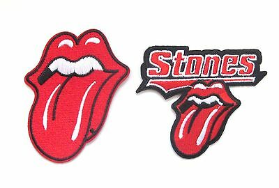 Rolling Stones Iron On Patch- Lips Rock Music Bands Badge Sew Appliques Patches