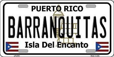 BARRANQUITAS Puerto Rico Novelty State Background Metal License Plate
