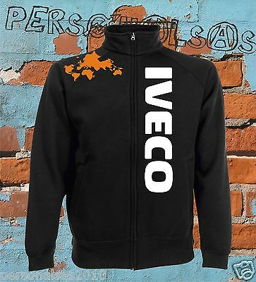 IVECO jacket sweat jacket logo vertical tuning truck pull truck holland style