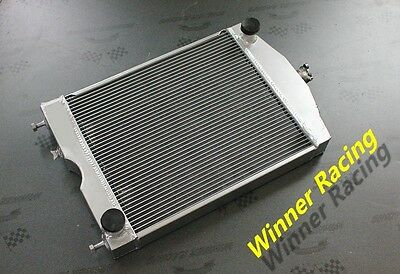 "56mm 2x1"" aluminum radiator for Ford 2N/8N/9N tractor w/chevy 350 V8 engine"