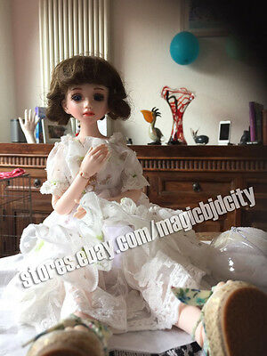 HOT SALE fashion doll 1/4 bjd doll Lusis(open lips) free eyes +face make up