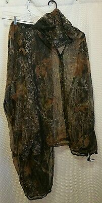 Bushline Outdoor Hunting Sz 2XL Camo Mesh Insect Repellent Jacket w/ Hood&Pants
