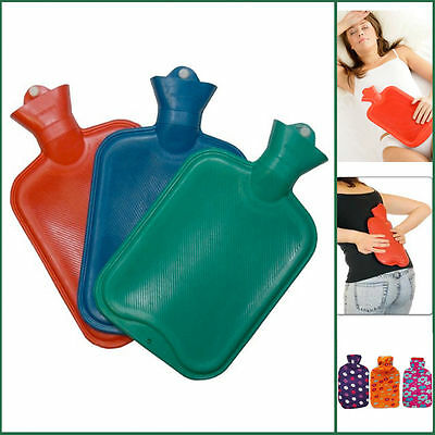 2 LTR NEW Hot Water Bottles Fleece Bag PRIMA Tested Quality Large Rubber Bottle
