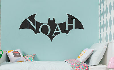 Batman Superhero Personalized Custom Wall Name Sticker Decal