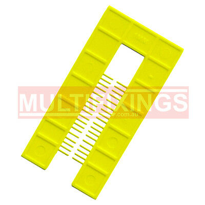 200pcs - 1mm Yellow - 50mm x 100mm Plastic Window Packers and Levelling Shims