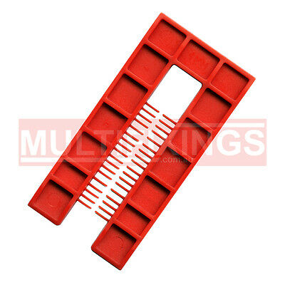 200pcs - 4mm Red - 50mm x 100mm Plastic Window Packers and Levelling Shims