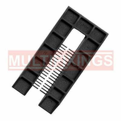 200pcs - 6mm Black - 50mm x 100mm Plastic Window Packers and Levelling Shims
