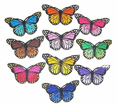Butterfly Iron On Patch- Embroidered Applique Badge Crafts Sew Patches